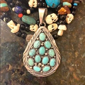 Jewelry - 🥰WOW! Choctaw sterling silver & turquoise pendant